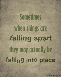 falling apart into place